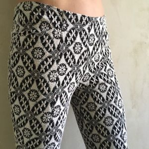 Black and white lace pants by Corey Lynn Calter